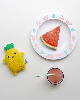 Buddy and Bear Piatto in Plastica, Fruit Friends, Multicolore – 23 cm diametro, senza BPA! Piatti e Scodelle