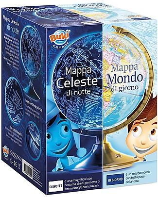 Buki Globo Giorno e Notte - Mappa del cielo e mappa del mondo! Scienza e Natura