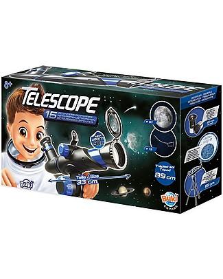 Buki Telescopio per Bambini con 15 attività - Per il Giorno e per la Notte! Scienza e Natura