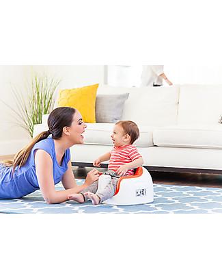 Bumbo Multi Seat, Sedile/Rialzo per Bambini con Vassoio, Rosso – Da 6 mesi a 3 anni! Alza Sedia