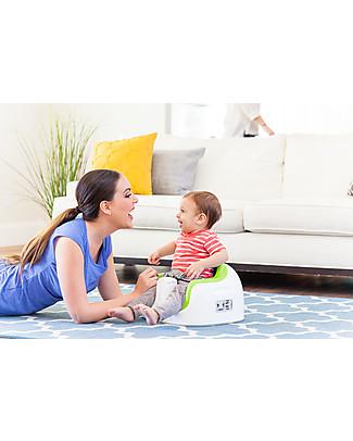Bumbo Multi Seat, Sedile/Rialzo per Bambini con Vassoio, Verde – Da 6 mesi a 3 anni! Alza Sedia