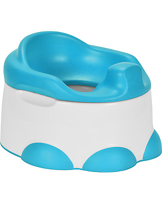 Bumbo Potty 3-in-1: Vasino, Riduttore WC e Pedana - Blu Pedana