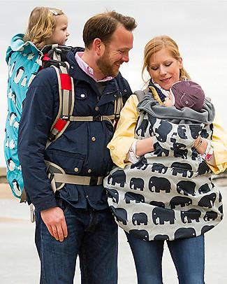 BundleBean Copertura Protettiva Impermeabile Termica per Portabebé - Elefanti  Fasce Portabebé