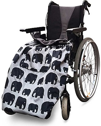 BundleBean Copertura Universale per Adulti per Sedia a Rotelle - Elefanti Grigi - Impermeabile e Termica Accessori