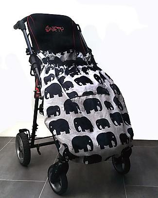 BundleBean Copertura Universale per Bambini per Sedia a Rotelle - Elefanti - Impermeabile e termica Accessori