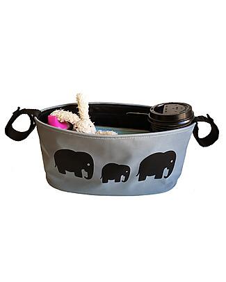 BundleBean Portaoggetti per Passeggino Universale - Elefanti Accessori