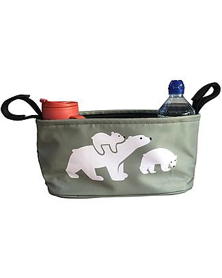 BundleBean Portaoggetti per Passeggino Universale - Orso Polare Accessori