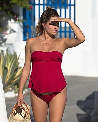Cache Coeur Bloom, Costume da Bagno Tankini Premaman - Rosso Sangria Costumi Due Pezzi