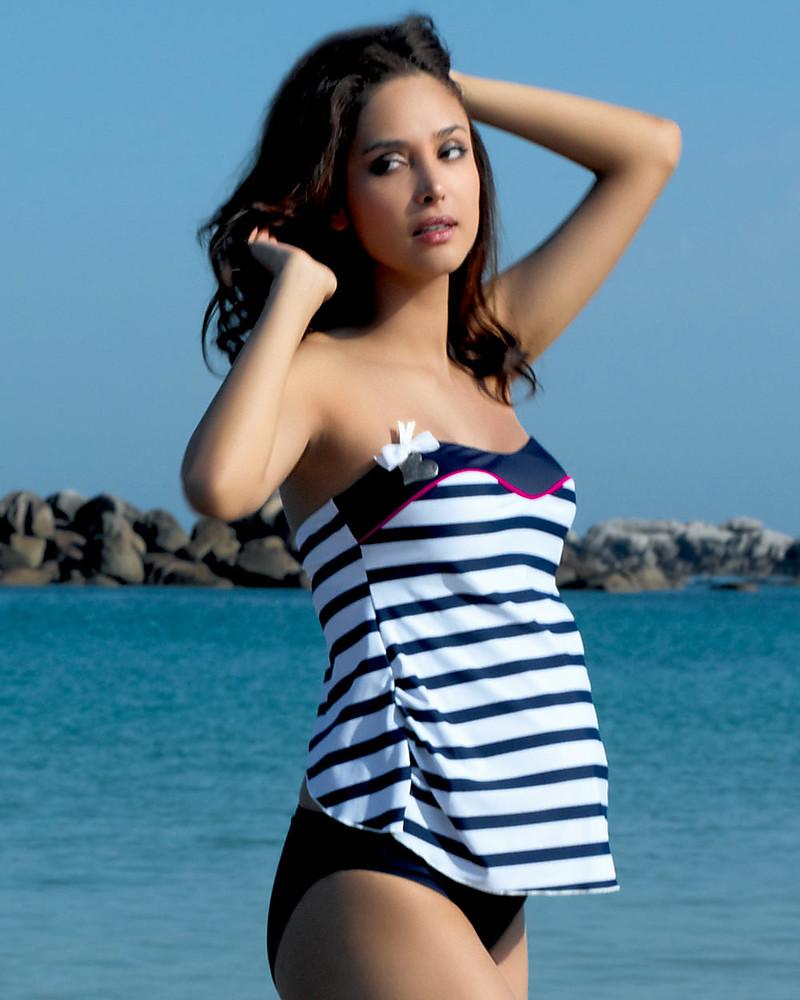 Cache Coeur Marina, Costume da Bagno Tankini Premaman – Righe ...