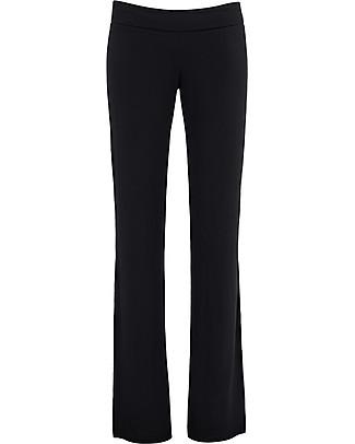 Cache Coeur Pantalone Premaman, Nero - In morbida fibra di bambù! Pantaloni Lunghi