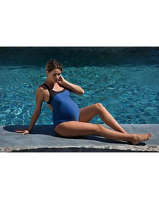 Cache Coeur Yana, Costume da Bagno Premaman - Celeste, Perfetto per la piscina! Costumi Interi