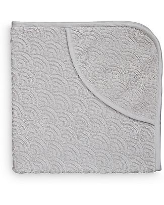 Camcam Copenhagen Asciugamano Baby con Cappuccio 80 x 80 cm, Grigio - 100% cotone bio Accappatoi e Asciugamani