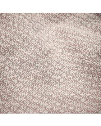 Camcam Copenhagen Bavaglino Extra-Lungo con Tasca, Sashiko Blush - Cotone bio resistente all'acqua Bavagli Grandi