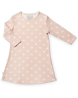 Camcam Copenhagen Camicia da Notte Swan, Rosa - 100% Jersey di Cotone Bio Camicie Da Notte