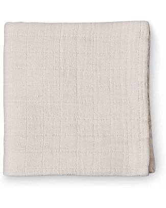 Camcam Copenhagen Copertina Swaddle, Nude - 120x120 cm, 100% Cotone Bio Copertine Swaddles