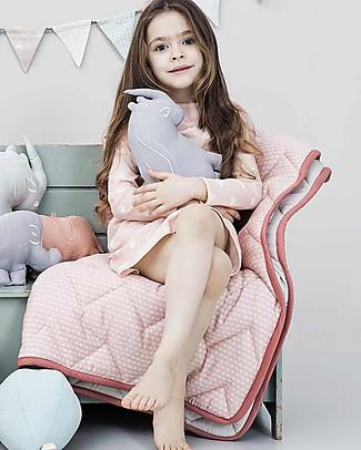 Camcam Copenhagen Copertina Trapuntata Baby, Sashiko Blush - 100x100 cm, Cotone Bio Coperte