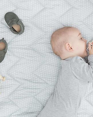 Camcam Copenhagen Copertina Trapuntata Baby, Sashiko Mint - 100x100 cm, Cotone Bio Coperte