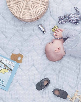 Camcam Copenhagen Copertina Trapuntata Baby, Sashiko Shade – 100x100 cm, Cotone Bio Coperte