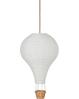 Camcam Copenhagen Lampada Mongolfiera, Grigio con cavetto Rosa - Arriva in una bellissima confezione regalo! Lampade Da Notte