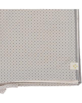 Camomile London Copripiumino Bicolore per Culla, Grigio Chiaro/Panna – 120 x 150 cm – 100% cotone Copripiumino e Federe