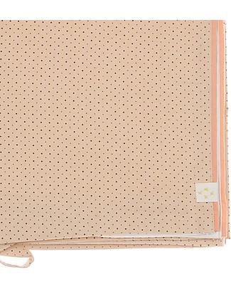 Camomile London Copripiumino Bicolore per Culla, Pesca/Panna – 120 x 150 cm – 100% cotone Copripiumino e Federe