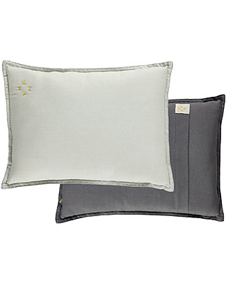 Camomile London Cuscino Bicolore da Arredamento 22x30 cm, Acqua/Grigio – 100% cotone Cuscini Arredo