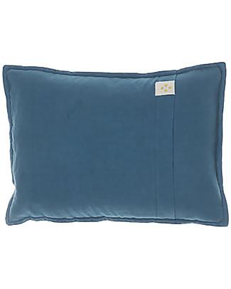 Camomile London Cuscino Bicolore da Arredamento 22x30 cm, Stampa Stella/Blu – 100% cotone Cuscini Arredo