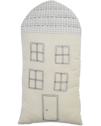 Camomile London Cuscino Tall House, Avorio, 29 x 57,5 cm – Ottimo come idea regalo! Cuscini Arredo