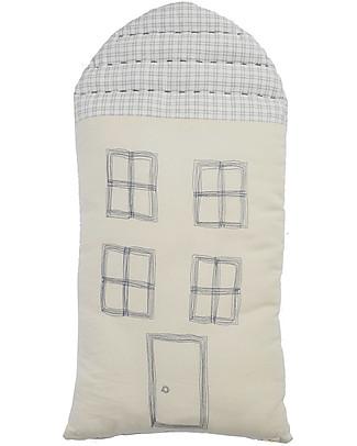Camomile London Cuscino Tall House, Avorio, 29 x 57,5 cm – Ottimo come idea regalo! Cuscini Arredo