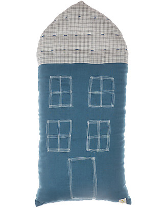 Camomile London Cuscino Tall House, Indaco, 29 x 57,5 cm – Ottimo come idea regalo! Cuscini Arredo