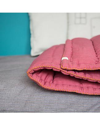 Camomile London Trapunta Lavorata a Mano per Culla, Rosa Intenso – 100% mussola di cotone Coperte