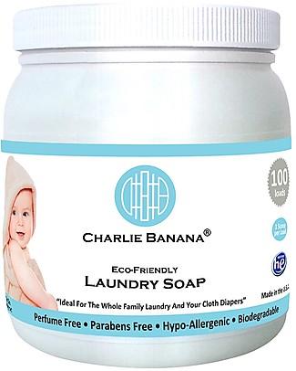 Charlie Banana Bio Detersivo in Polvere per Lavatrice, 2,64 lt - Delicatissimo, ideale per pannolini lavabili Detergenza