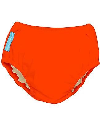 Charlie Banana Costume Contenitivo/Pannolino 2-in-1, Arancione Fluo - Lavabile, perfetto per il mare! Costumi Contenitivi