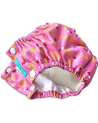 Charlie Banana Costume Contenitivo/Pannolino 2-in-1 Con Bottoncini a Pressione, Rosa/Principessa – Lavabile, perfetto per il mare! Costumi Contenitivi