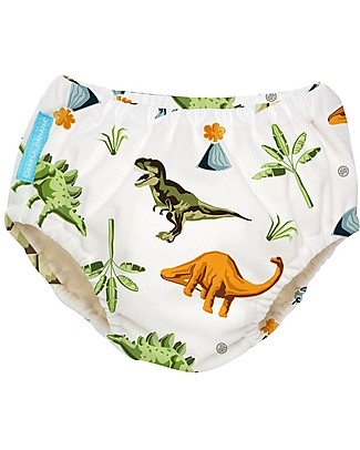 Charlie Banana Costume Contenitivo/Pannolino 2-in-1, Dinosauri - Lavabile, Perfetto per il Mare! Costumi Contenitivi