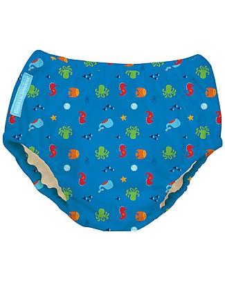 Charlie Banana Costume Contenitivo/Pannolino 2-in-1, Mare - Lavabile, perfetto per il mare! Costumi Contenitivi
