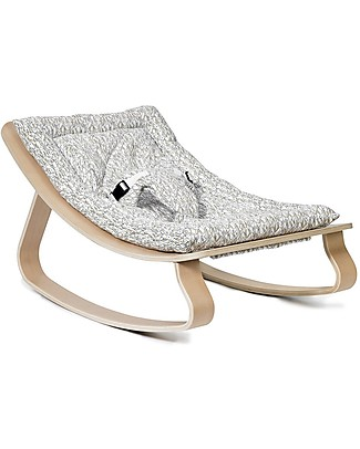 Charlie Crane Baby Rocker LEVO in Beech - Rabbit -Timeless and Eco-Friendly Design! Bouncers