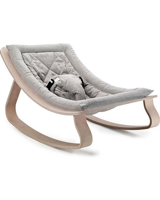 Charlie Crane Sdraietta LEVO in Legno di Faggio - Grigio Chiaro - Design Senza Tempo & Eco-Friendly! Sdraiette