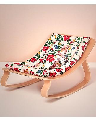Charlie Crane Sdraietta Levo in Legno di Faggio - Ibisco - Design Senza Tempo & Eco-Friendly! Sdraiette