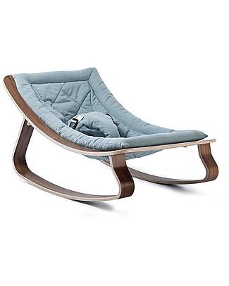 Charlie Crane Sdraietta LEVO in Legno di Noce - Blu Aruba - Design Senza Tempo & Eco-Friendly! null