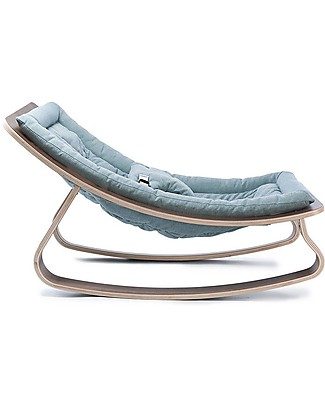 Charlie Crane Sdraietta LEVO in Legno di Noce - Blu Aruba - Design Senza Tempo & Eco-Friendly! Sdraiette