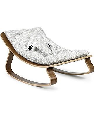 Charlie Crane Sdraietta LEVO in Legno di Noce - Coniglietti - Design Senza Tempo & Eco-Friendly! Sdraiette