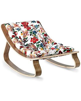 Charlie Crane Sdraietta LEVO in Legno di Noce, Ibisco - Design Senza Tempo & Eco-Friendly! Sdraiette