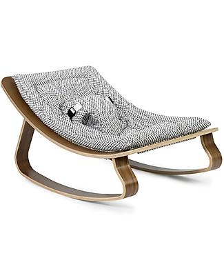 Charlie Crane Sdraietta LEVO in Legno di Noce - Rombi - Design Senza Tempo & Eco-Friendly! Sdraiette