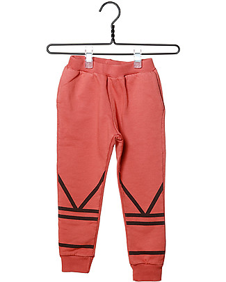 Cherry Papaya Pantaloni Lunghi in Felpa - 100% cotone bio Pantaloni Lunghi