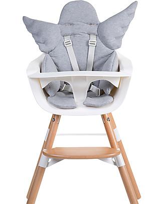 Childhome Cuscino Universale Angelo, Grigio – 100% jersey di cotone Seggioloni
