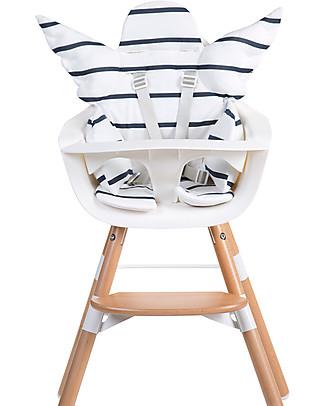 Childhome Cuscino Universale Angelo, Marin, Righe Bianco+Blu - 100% jersey di cotone Seggioloni