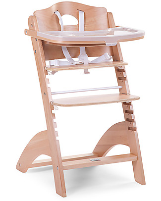 Childhome Evolutive Wooden High Chair Lambda 2, Natural – It becomes a normal chair! High Chairs