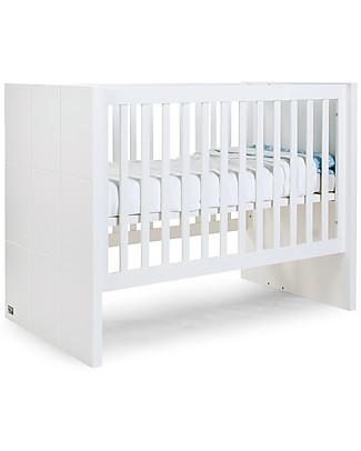 Childhome Lettino Evolutivo Quadro – Include kit per trasformarla da culla 60x120 cm a letto singolo 90x200 cm Lettini Con Sbarre