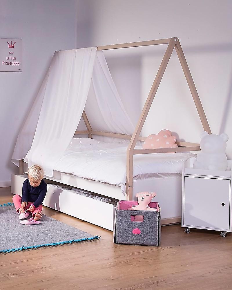 Letti Ecologici Per Bambini.Childhome Letto Singolo Nordic Acacia Cassettone Struttura